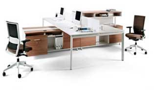 mesa de oficina doble espacio